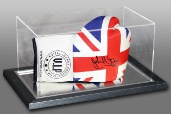 John H Stracey Hand Signed Union Union Jack Boxing Glove Presented In An Acrylic Case