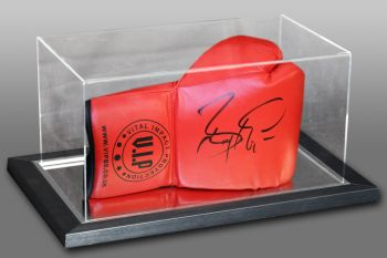 Barry McGuigan Hand Signed Red Vip Boxing Glove In An Acrylic Case