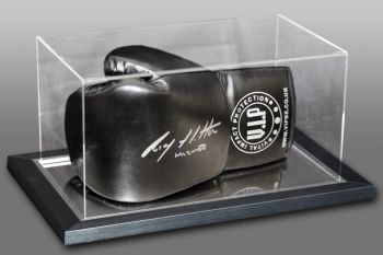 Ricky Hatton Hand Signed Black Vip Boxing Glove In An Acrylic Case
