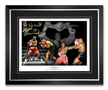 Frank Bruno 12x16 hand signed and Framed Montage