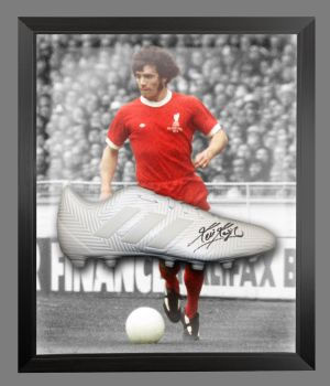 Kevin Keegan Signed Football Adidas Boot In An Acrylic Dome Frame : A