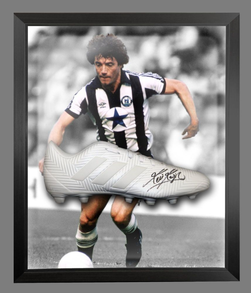 Kevin Keegan Signed Football Adidas Boot In An Acrylic Dome Frame : B