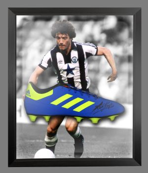 Kevin Keegan Signed Football Adidas Boot In An Acrylic Dome Frame : D