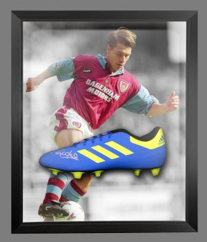 Tony Cottee Signed Football Adidas Boot In An Acrylic Dome Frame : B