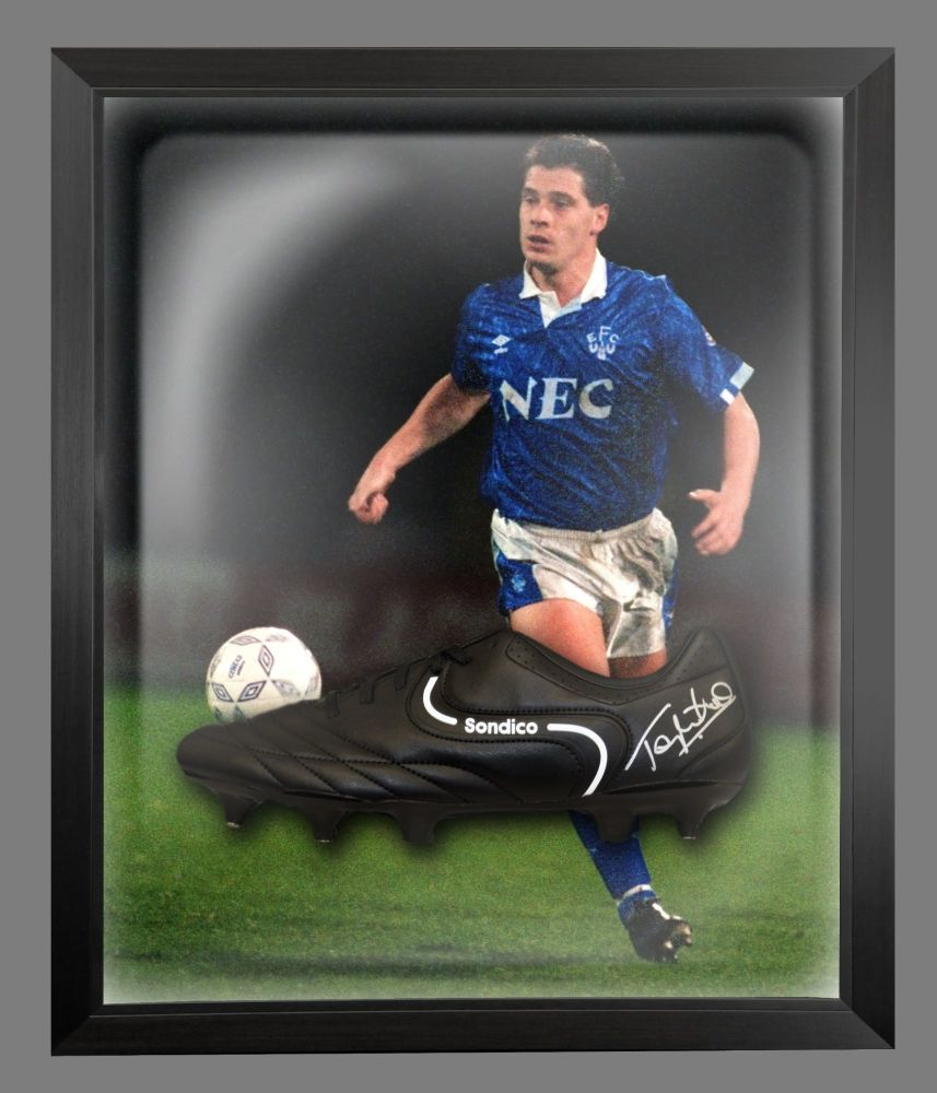 Tony Cottee Signed Football Sondico Boot In An Acrylic Dome Frame : A