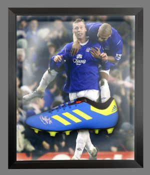 Duncan Ferguson Signed Football Adidas Boot In An Acrylic Dome Frame : A