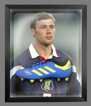Duncan Ferguson Signed Football Adidas Boot In An Acrylic Dome Frame : B