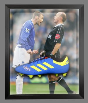 Duncan Ferguson Signed Football Adidas Boot In An Acrylic Dome Frame : C