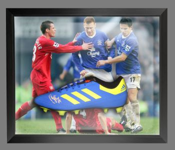Duncan Ferguson Signed Football Adidas Boot In An Acrylic Dome Frame : D