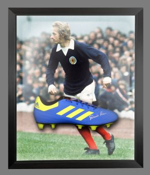Denis Law Signed Adidas Football Boot in an Acrylic Dome : C