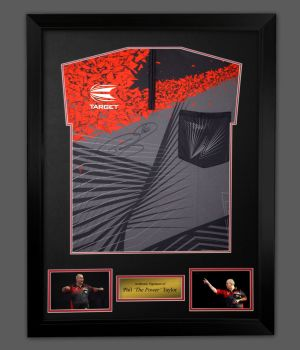 Phil Taylor Hand Signed Shirt In A Framed Presentation