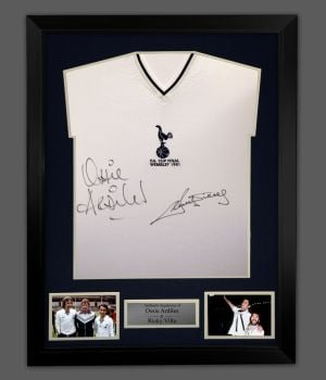 Ossie Ardiles And Ricky Villa Spurs Football Shirt In A Framed Presentation