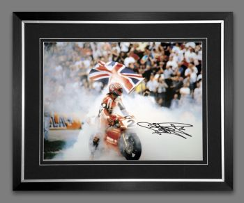 Carl Fogarty Signed And Framed 12x16 Motor Bike Racing Photograph: C