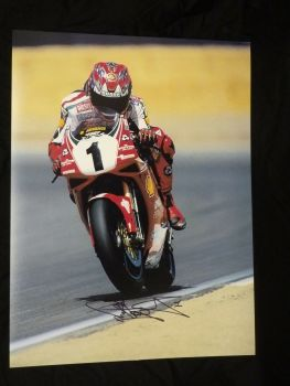 Carl Fogarty Ducati Signed 12x16 Photograph : B