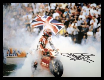 Carl Fogarty Ducati Signed 12x16 Photograph : A