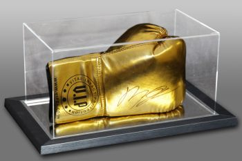 Billy Joe Saunders Signed Gold VIP Boxing Glove In An Acrylic Case