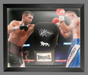 Carl Froch Signed Black Boxing Glove In A Dome Frame Presentation: B