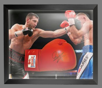 Carl Froch Signed Red Everlast Boxing Glove In A Dome Frame : A