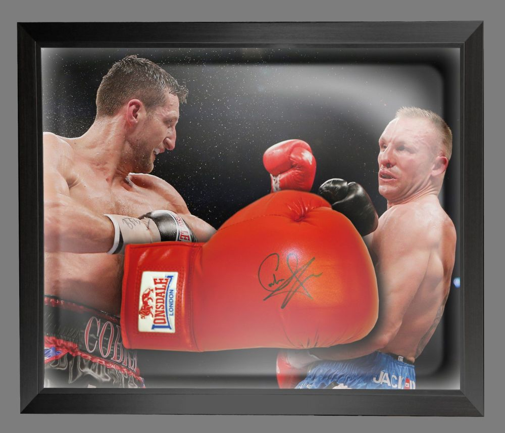 Carl Froch Signed Red Everlast Boxing Glove In A Dome Frame : B