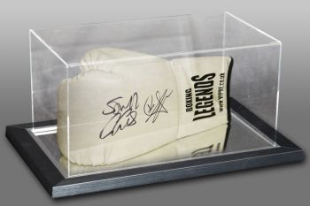 Carl Froch & George Groves Dual Signed Boxing Glove In An Acrylic Case : A