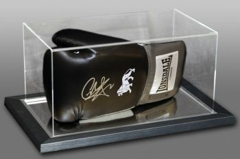 Carl Froch Signed Black Lonsdale Boxing Glove In An Acrylic Case