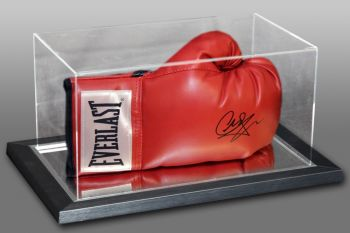 Carl Froch Signed Red Everlast Boxing Glove In An Acrylic Case