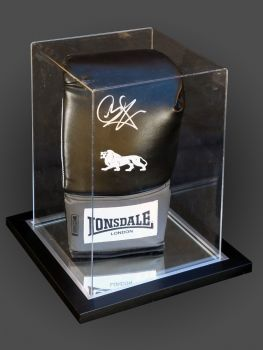 Carl Froch Signed Black Lonsdale Boxing Glove In An Acrylic Case: A