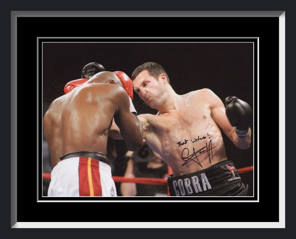 New Carl Froch Signed And Framed Boxing Photograph C
