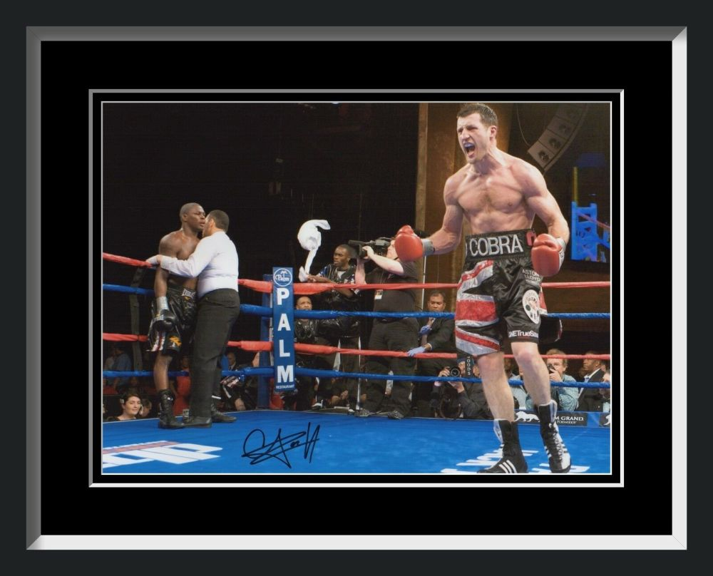 New Carl Froch Signed And Framed Boxing Photograph B