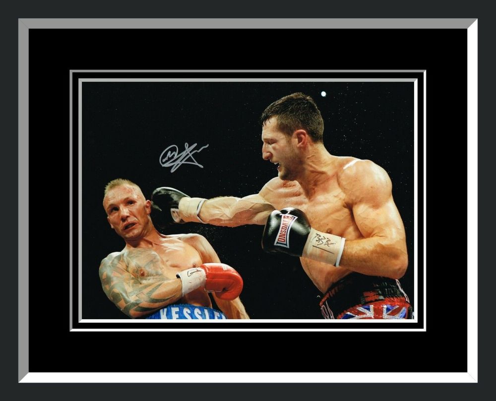 New Carl Froch Signed And Framed Boxing Photograph : A