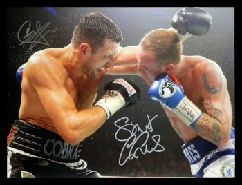 Carl Froch And George Groves Dual Hand Signed 12x16 Boxing Photograph : A