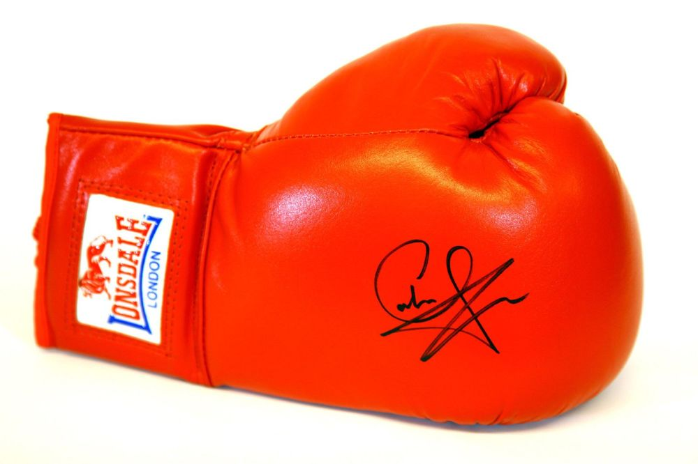 Carl Froch Hand Signed Red Everlast Boxing Glove : A