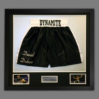 Daniel Dubois Hand Signed And Framed Custom Made Boxing Trunks : B