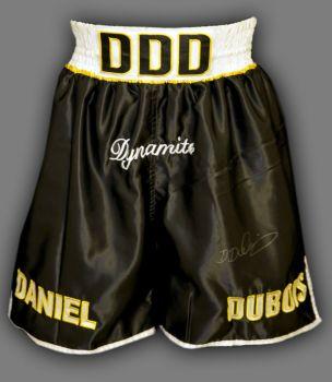 Daniel Dubois Hand Signed Custom Made Boxing Trunks : B