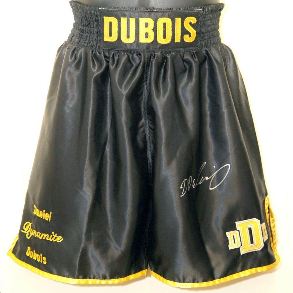 Daniel Dubois Hand Signed Custom Made Boxing Trunks : A