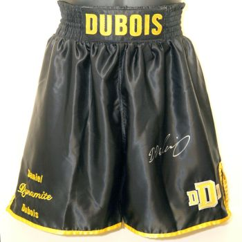 Daniel Dubois Hand Signed Custom Made Boxing Trunks : A