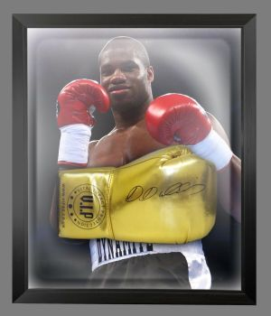 Daniel Dubois  Hand Signed Gold Vip t Boxing Glove In A Dome Frame - A