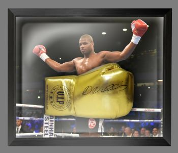 Daniel Dubois  Hand Signed Gold Vip t Boxing Glove In A Dome Frame - B