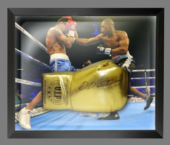 Daniel Dubois  Hand Signed Gold Vip t Boxing Glove In A Dome Frame - C