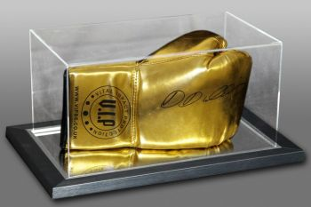 Daniel Dubois Hand Signed Gold Vip Boxing Glove In An Acrylic Case