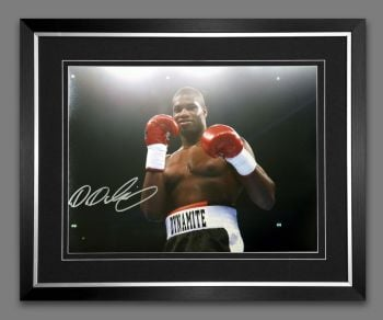Daniel Dubois Signed And Framed 12x16 Boxing Photograph : C