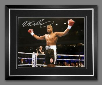Daniel Dubois Signed And Framed 12x16 Boxing Photograph : B