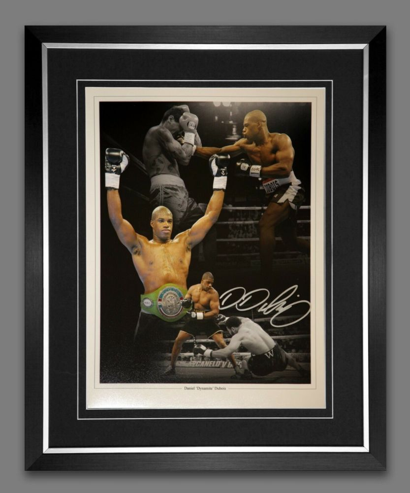 Daniel Dubois Signed And Framed 12x16 Boxing Photograph : A