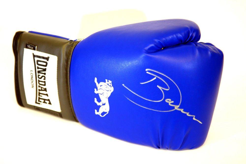 Darren Barker Hand Signed Blue  Lonsdale Boxing Glove