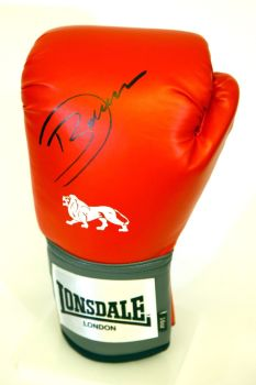 Darren Barker Hand Signed Red Lonsdale Boxing Glove.