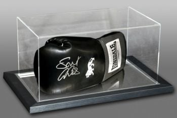 George Groves Signed Black Boxing Glove In An Acrylic Case