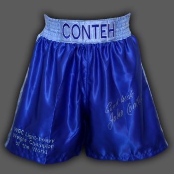 John Conteh Signed Custom Made Boxing Trunks
