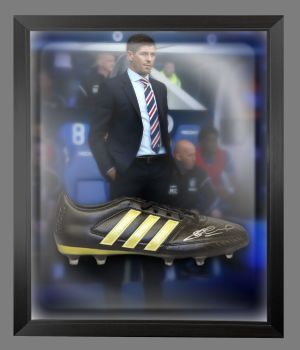 Steven Gerrard Hand Signed Football Boot In An Acrylic Dome Frame : C