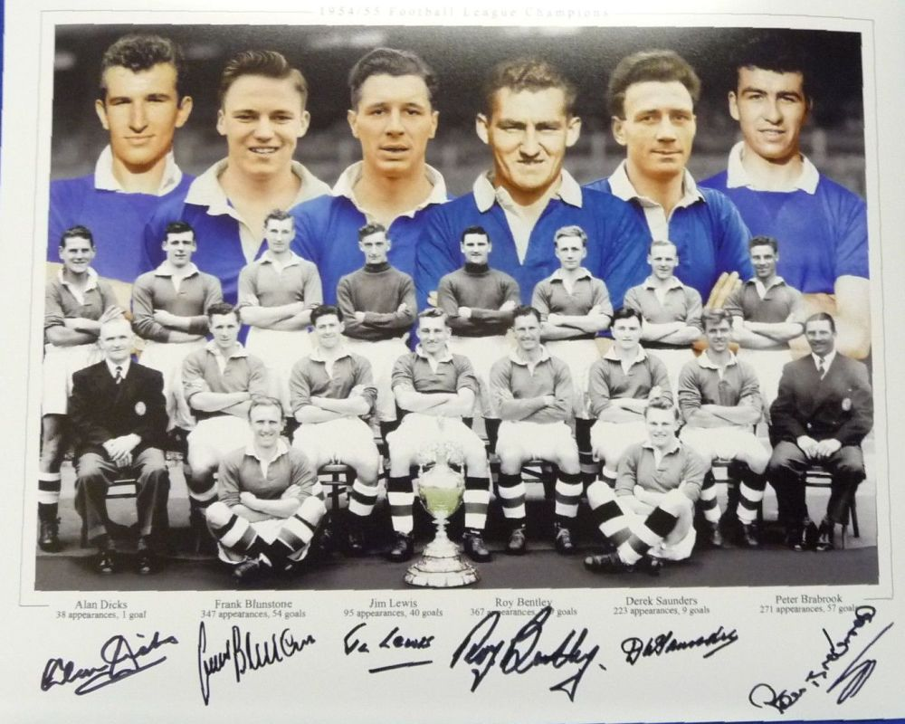 Chelsea 1954/55 Team Legends Large Photograph Signed By 6 Players.