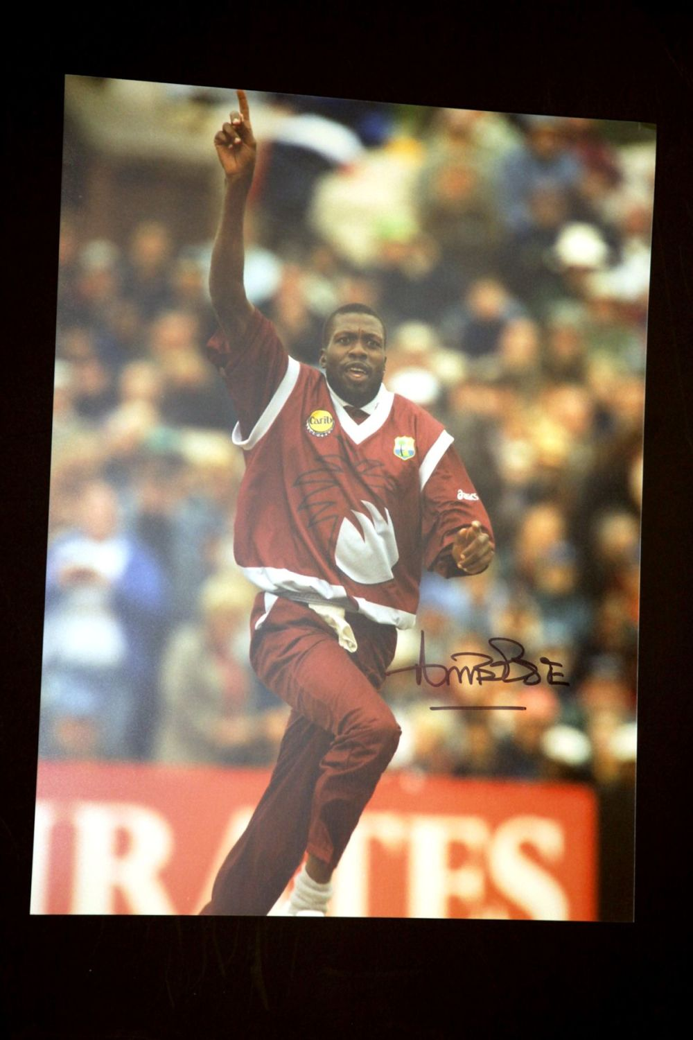 Curtly Ambrose Hand Signed Cricket 12 x16 Photograph : A